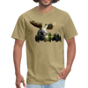 Forest Moose Men's T-Shirt - khaki