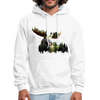 Forest Moose Men's Hoodie - white