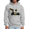 Forest Moose Men's Hoodie - heather gray