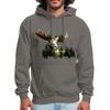 Forest Moose Men's Hoodie - asphalt gray