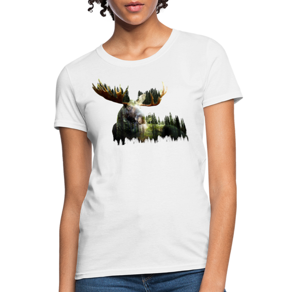 Forest Moose Women's T-Shirt - white