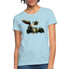 Forest Moose Women's T-Shirt - powder blue