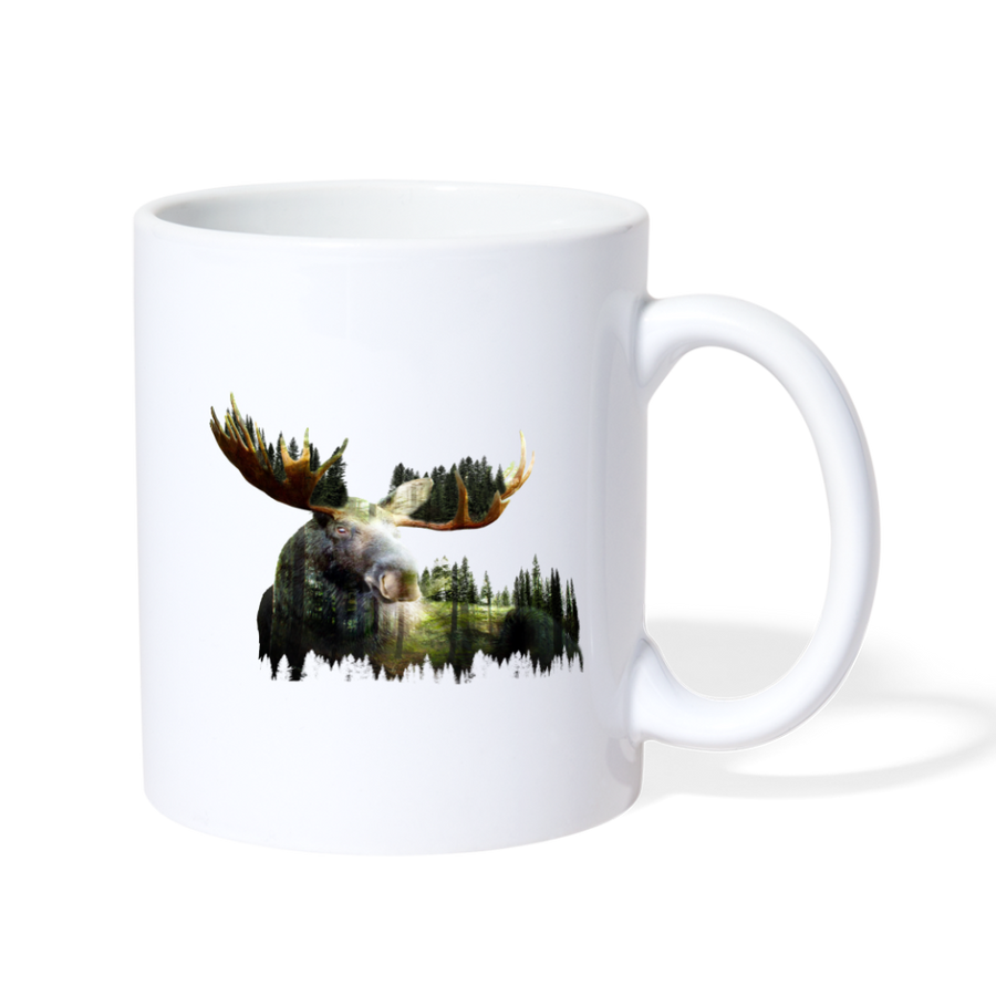 Forest Moose Coffee/Tea Mug - white