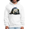 Pug Dog Men's Hoodie - white