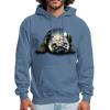 Pug Dog Men's Hoodie - denim blue