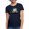 Pug Dog Women's T-Shirt - navy