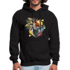 Fox and Feathers Men's Hoodie - black