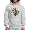 Fox and Feathers Men's Hoodie - ash