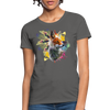 Fox and Feathers Women's T-Shirt - charcoal