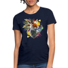 Fox and Feathers Women's T-Shirt - navy