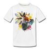 Fox and Feathers Kid's Premium Organic T-Shirt - white