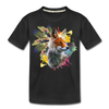 Fox and Feathers Kid's Premium Organic T-Shirt - black
