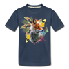 Fox and Feathers Kid's Premium Organic T-Shirt - navy