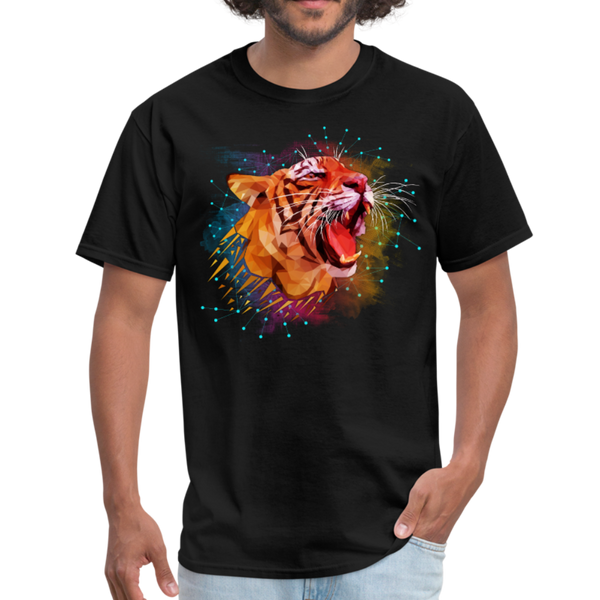 Polygon Tiger Men's T-Shirt - black