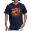 Polygon Tiger Men's T-Shirt - navy