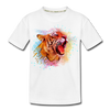 Polygon Tiger Kid's Premium Organic T-Shirt - white