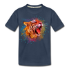 Polygon Tiger Kid's Premium Organic T-Shirt - navy