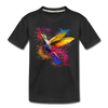 Polygon Hummingbird Kid's Premium Organic T-Shirt - black