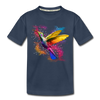Polygon Hummingbird Kid's Premium Organic T-Shirt - navy