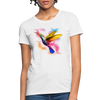 Polygon Hummingbird Women's T-Shirt - white