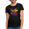Polygon Hummingbird Women's T-Shirt - black