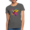 Polygon Hummingbird Women's T-Shirt - charcoal