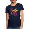 Polygon Hummingbird Women's T-Shirt - navy