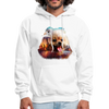 Pomeranian Dog Men's Hoodie - white