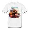 Pomeranian Dog Kid's Premium Organic T-Shirt - white