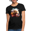 Pomeranian Dog Women's T-Shirt - black