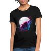 Polygon Wolf Women's T-Shirt - black