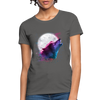 Polygon Wolf Women's T-Shirt - charcoal