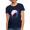 Polygon Wolf Women's T-Shirt - navy