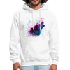 Polygon Wolf Men's Hoodie - white