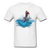 Jumping great white shark t-shirt - Animal Face T-Shirt - white