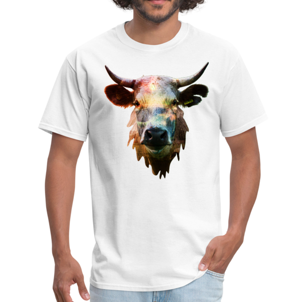 Cow t-shirt - Animal Face T-Shirt - white