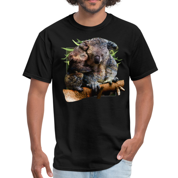 Koalas t-shirt - Animal Face T-Shirt - black