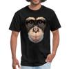Chimpanzee Face Men's T-Shirt - black