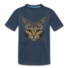 Harry the cat Kid's Premium Organic T-Shirt - navy
