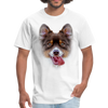 Smiley Dog Men's T-Shirt - white