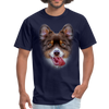 Smiley Dog Men's T-Shirt - navy