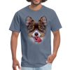 Smiley Dog Men's T-Shirt - denim