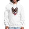 Smiley Dog Men's Hoodie - white