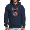 Smiley Dog Men's Hoodie - navy