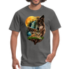 Wolves and Moon Men's T-Shirt - charcoal
