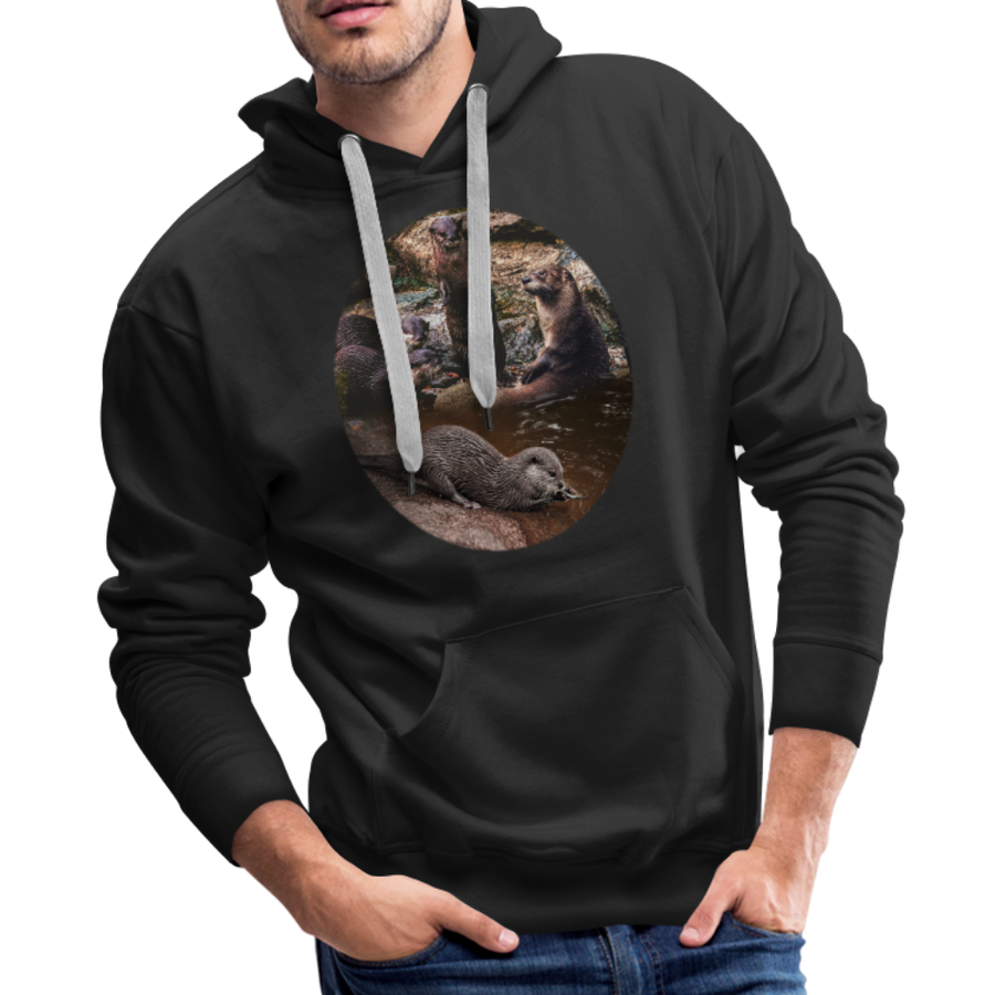Otters Men's Premium Hoodie - black