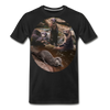 Otters Men's Premium Organic T-Shirt - black