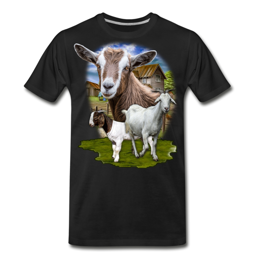Goat Men's Premium Organic T-Shirt - black