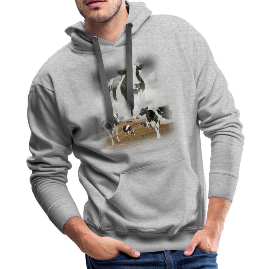Heaven Cows Men's Premium Hoodie - heather gray
