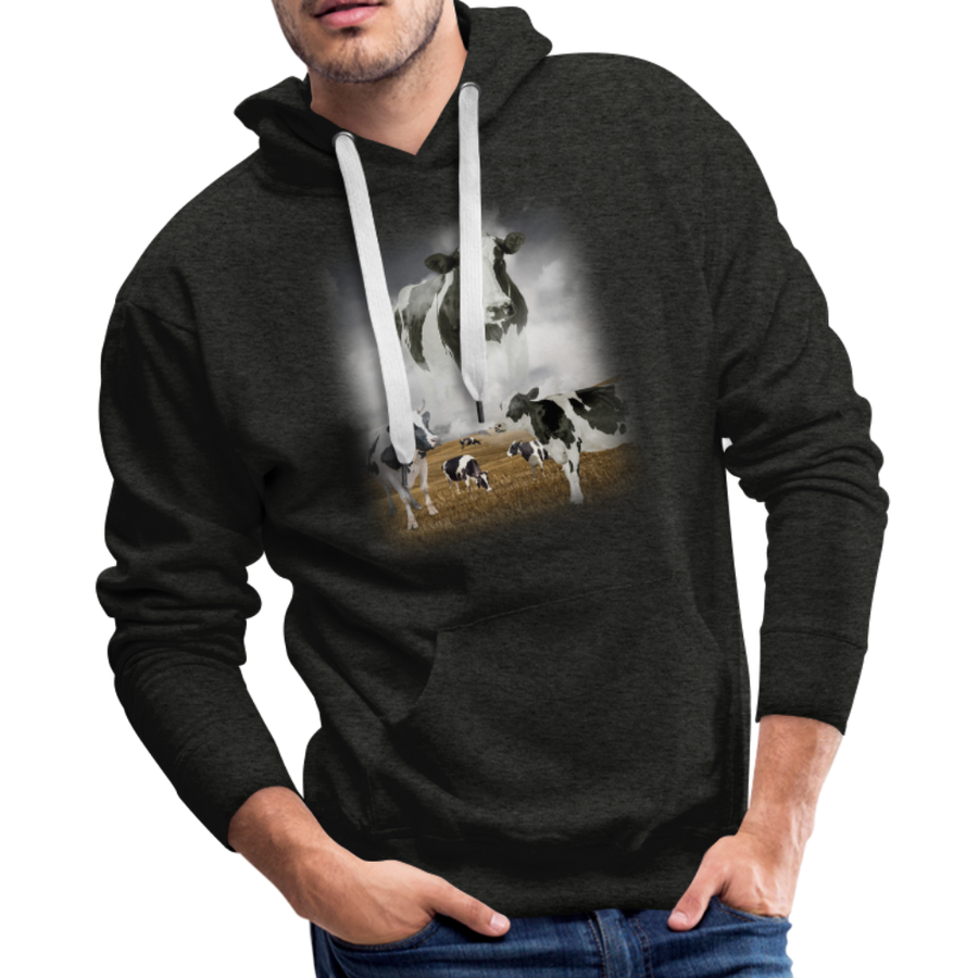 Heaven Cows Men's Premium Hoodie - charcoal gray